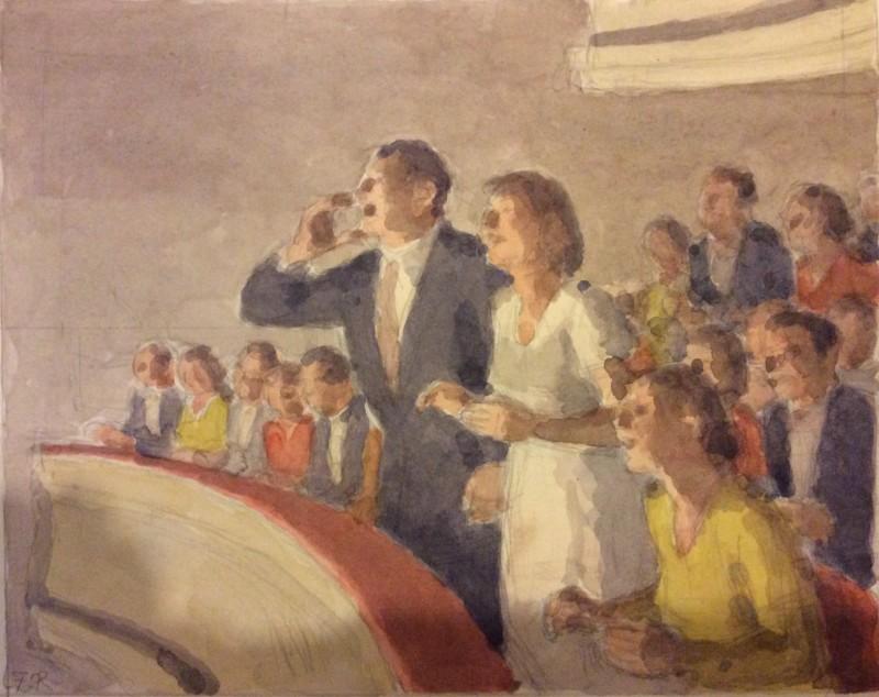 FERMIN ROCKER (1907-2004)  CURTAIN CALL  SOLD