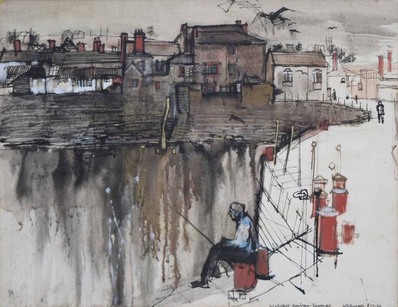HANS SCHWARZ (1922-2003)  WATCHET, 1966