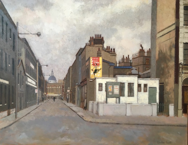 GORDON SCOTT (1914-2016)  A STREET IN FARRINGDON, LONDON, c. 1950  SOLD