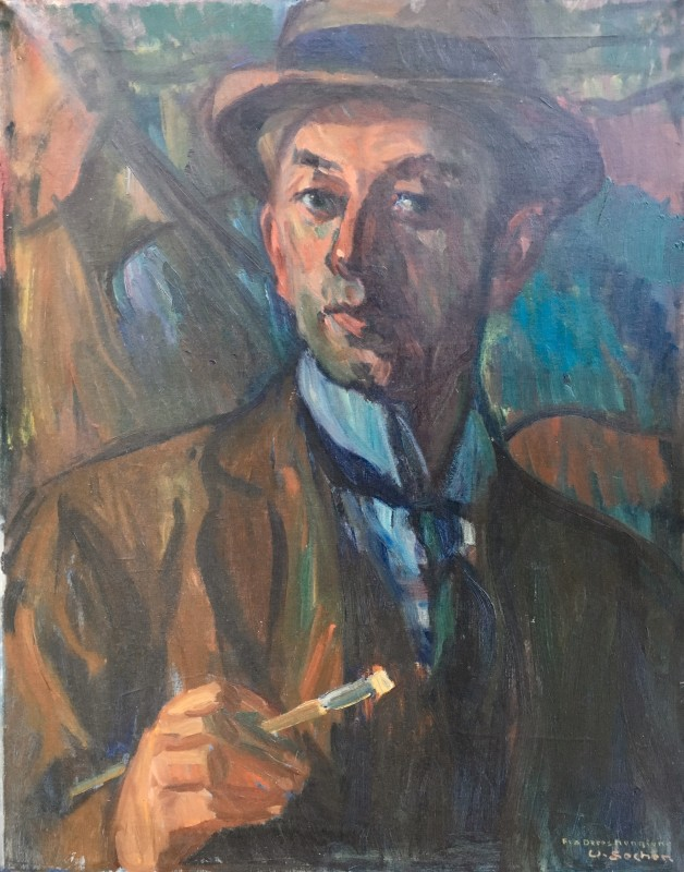WALDEMAR SECHER (1885-1976)  SELF PORTRAIT, 1930