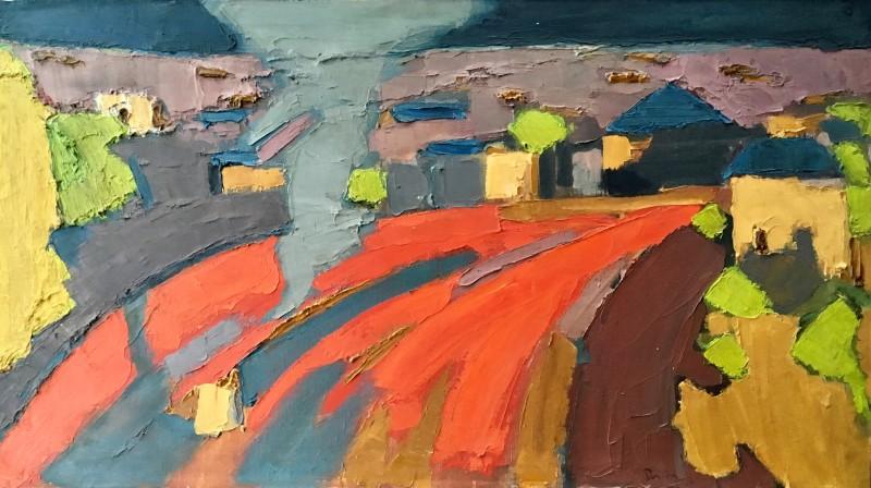 BRYAN SENIOR (b. 1935)  RED JUNCTION (PRIMROSE HILL), 1960