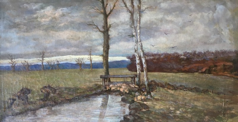 Pierre Puvis De Chavannes (1824-1898)Paysage, c. 1890's