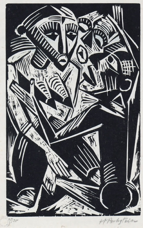 Max Pechstein (1881-1951)Woman Desired by Man (Weib vom Manne begehrt), 1919