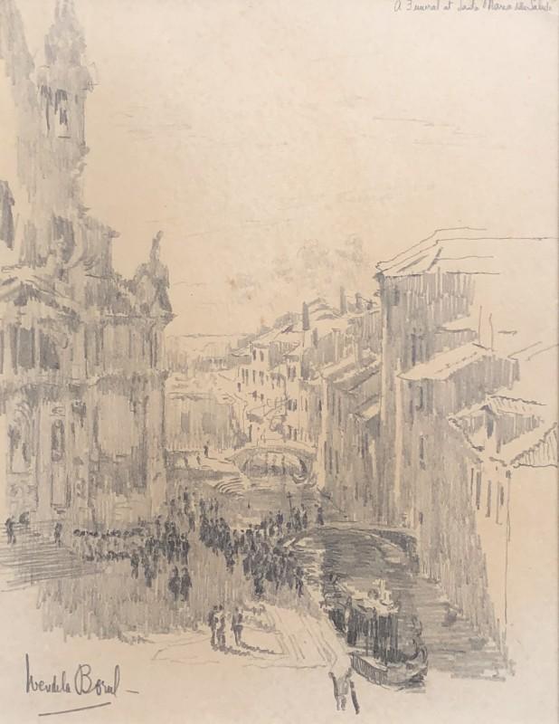 Wendela Boreel (1895-1985)Procession, Santa Maria della Salute, Venice, c. 1920s