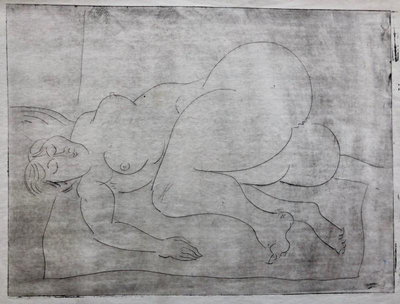 Glyn Morgan (1926-2015)Reclining Nude, c. 1948