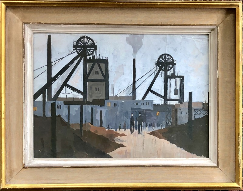 Hilary Miller (b. 1919)A Lancashire Colliery, c. 1950