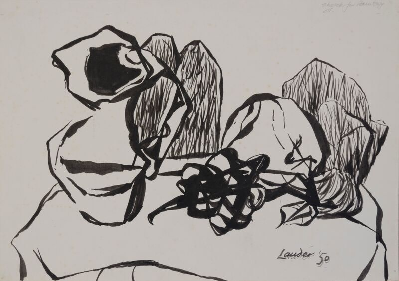 Kenneth Lauder (1916-2004)Study for Still Life with Bunch of Grapes