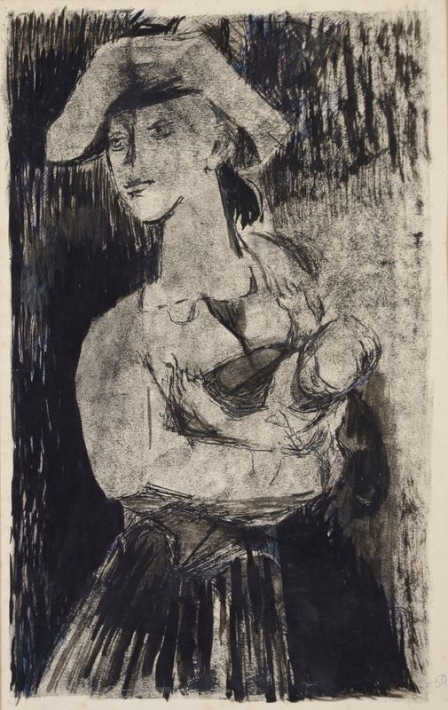 Kenneth Lauder (1916-2004)Woman and Child, 1950