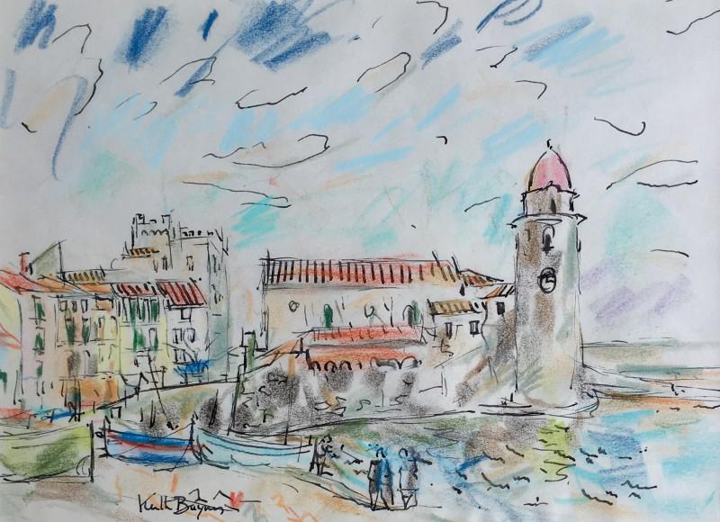 Keith Baynes (1887-1977) Coastal Scene, Perpignan