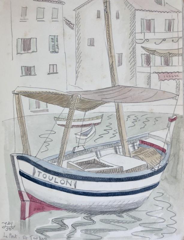 Doris Hatt (1890-1969)Toulon Boat, St. Tropez, 1950