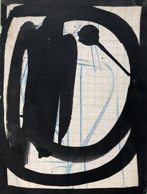 René Audebes (1922-1993)Abstrait lyrique II, 1944