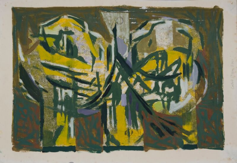 Kenneth Lauder (1916-2004)Phoenix Yellow Green Version, 1960