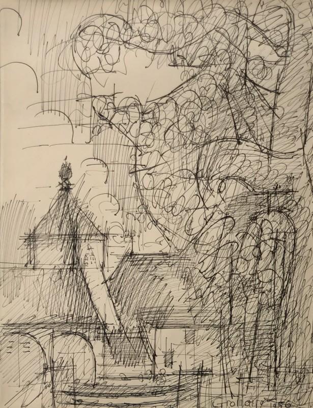 Marcel Gromaire (1892-1971)Le Village, 1956