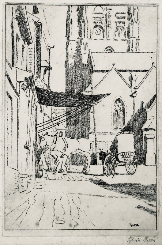 Sylvia Gosse (1881-1968)Street in Envermeu, 1919