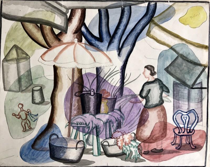 Doris Hatt (1890-1969)Cassis Counterpoint, 1960's