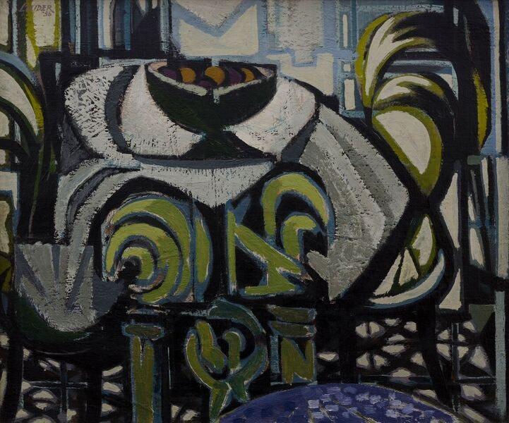 Kenneth Lauder (1916-2004) Terrace Still Life, 1956