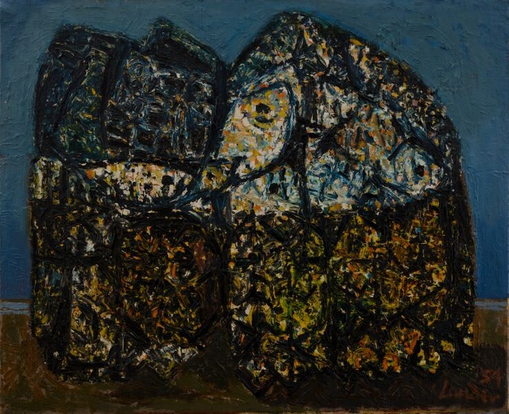 Kenneth Lauder, Fish Baskets, 1959