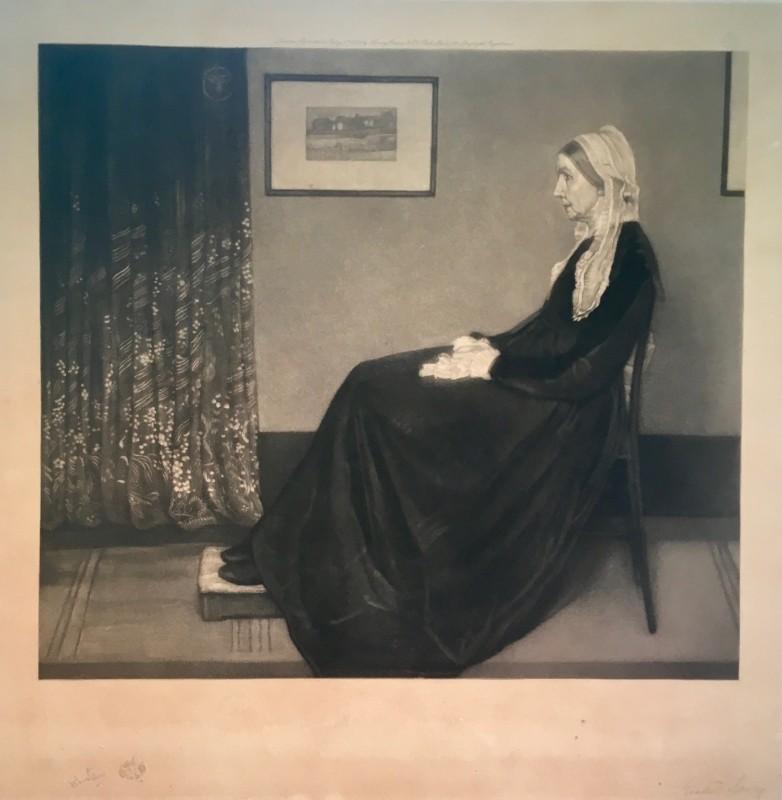Richard Josey (1840-1906)After James Abbott McNeill Whistler ( 1834-1903) Arrangement in Grey and Black No. 1: Portrait of the Artist's Mother, 1879