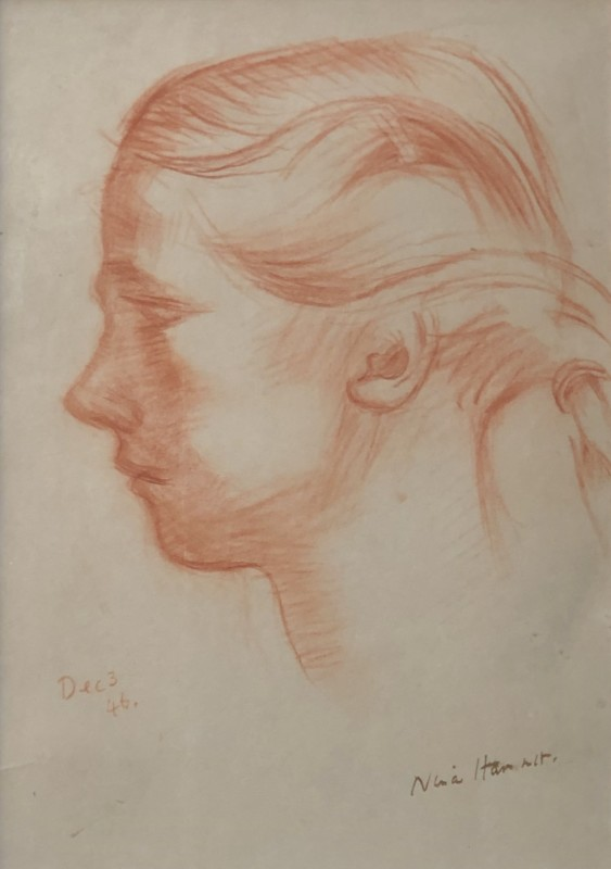 Nina Hamnett (1890-1956)Study of a Girl in Profile, 1946