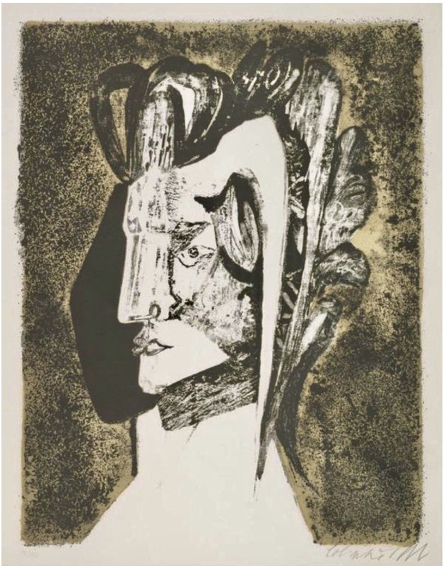 Robert Colquhoun (1914-1962)Head of Absalom, 1959