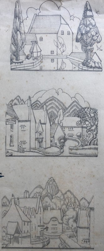 Doris Hatt, Village Studies, 1920's