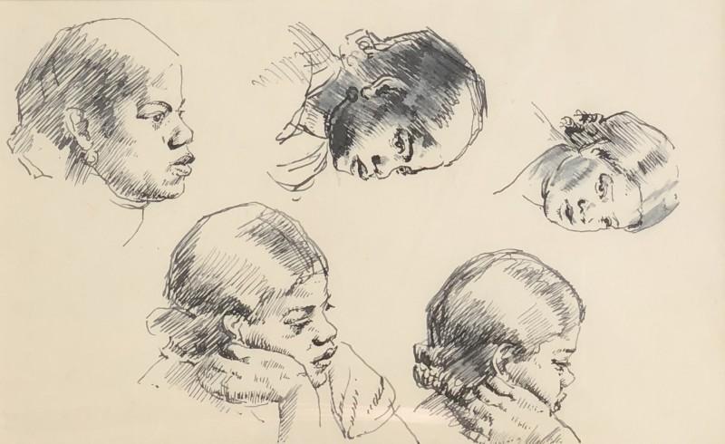 Dorothea Maclagan (1895-1982)Portrait Studies, c. 1950s