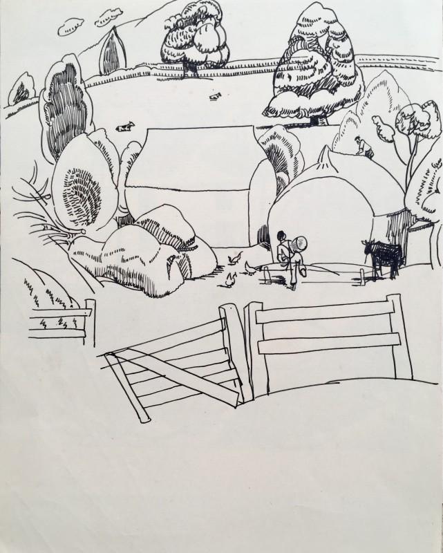 Doris Hatt (1890-1969)Farmyard, 1920's
