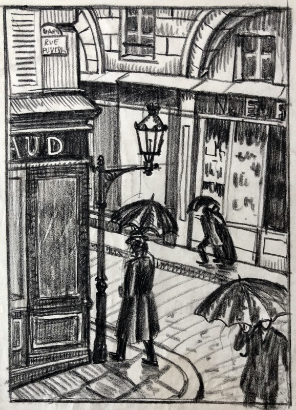 Ethelbert White (1891-1972)A Paris Street, 1912