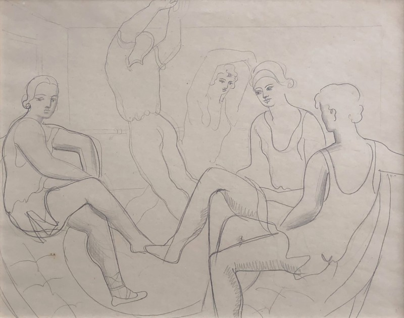 Christopher Wood (1901-1930)Study of Dancers (Romeo and Juliet), 1925