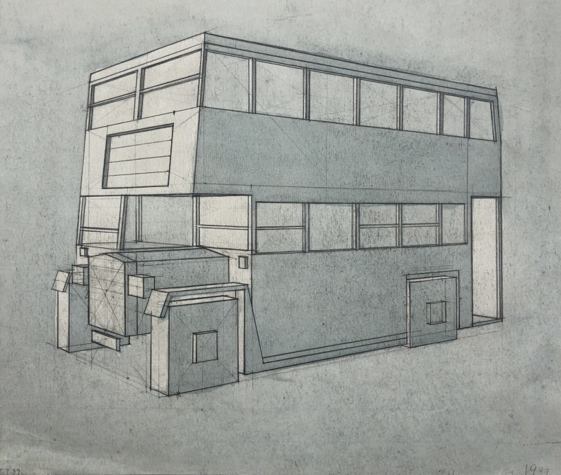 Edith Lawrence (1890-1973)Cubist Bus Design, 1937