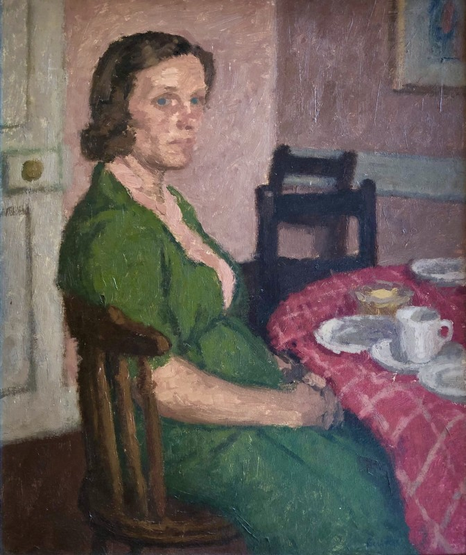 Robert Buhler (1916-1989)Mrs Small - Rogate, 1942