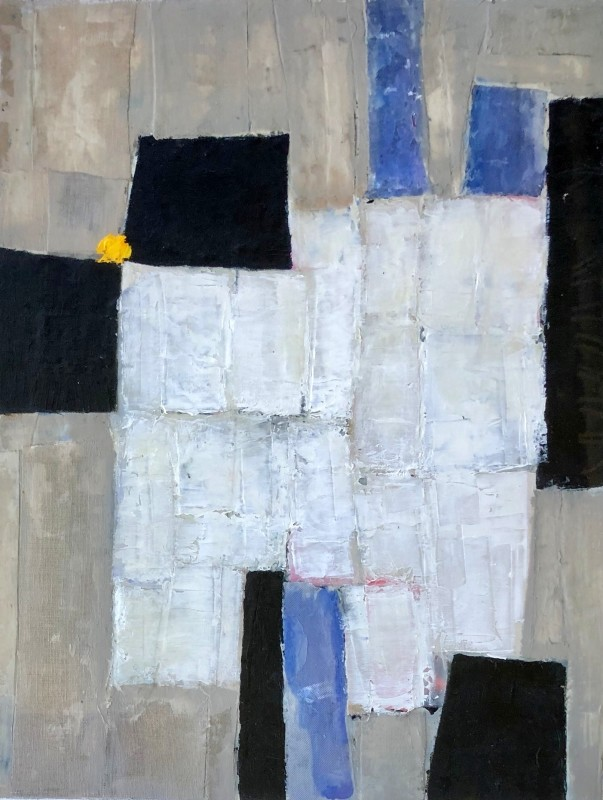 Roger Large (b. 1939)Composition with Collage