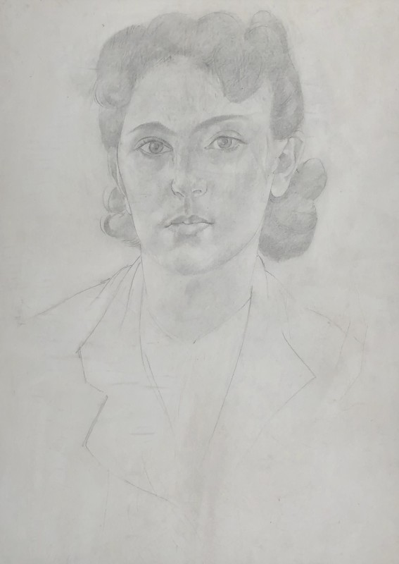 Stanley Spencer (1891-1959)Portrait of the Artist's Daughter, Unity Spencer, c. 1940