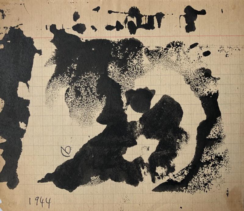 René Audebes (1922-1993)Abstrait lyrique I, 1944