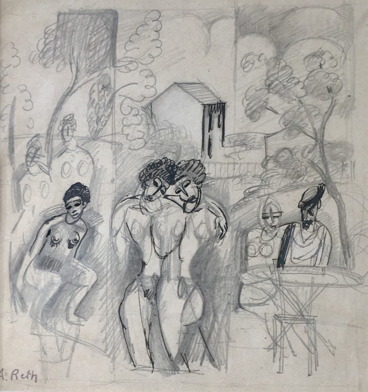 Alfred Reth (1884-1966)Figure Composition, 1910-12