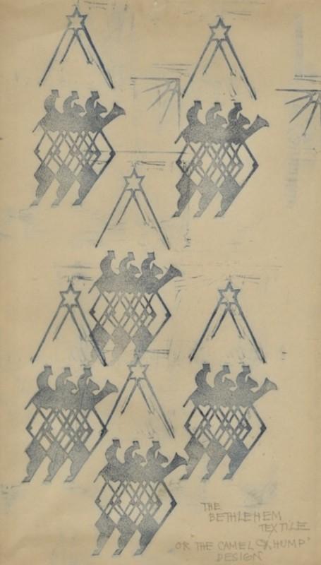 Cyril Power (1872-1951)The Bethlehem Textile or 'The Camel Hump Design', 1925