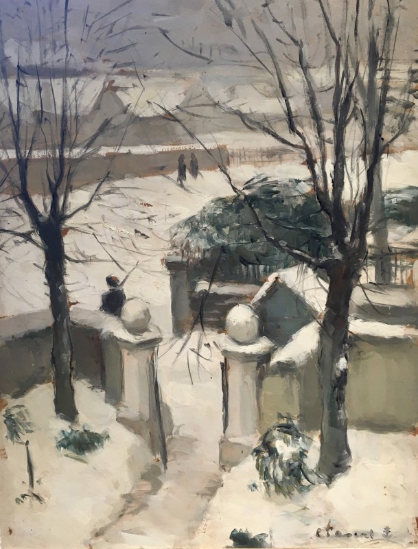 Leopold Pascal (1900-1958)Paris in The Snow - The American Embassy