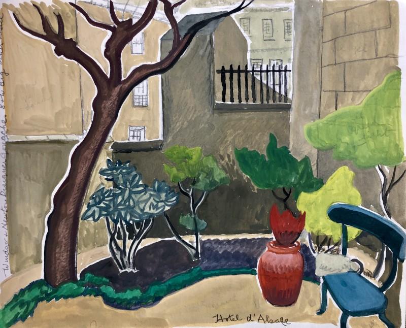 Doris Hatt (1890-1969)Courtyard, Hotel D' Alsace, Paris, 1964