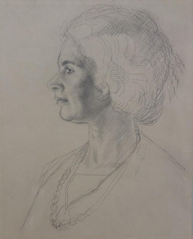 Francis Ernest Jackson, Portrait of Dorothy Hutton, 1919