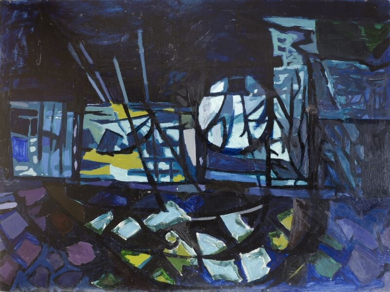 Kenneth Lauder (1916-2004)Harbour Moon, 1954