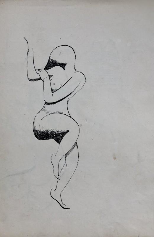 Rupert Lee (1887-1959)Cubist nude, 1918