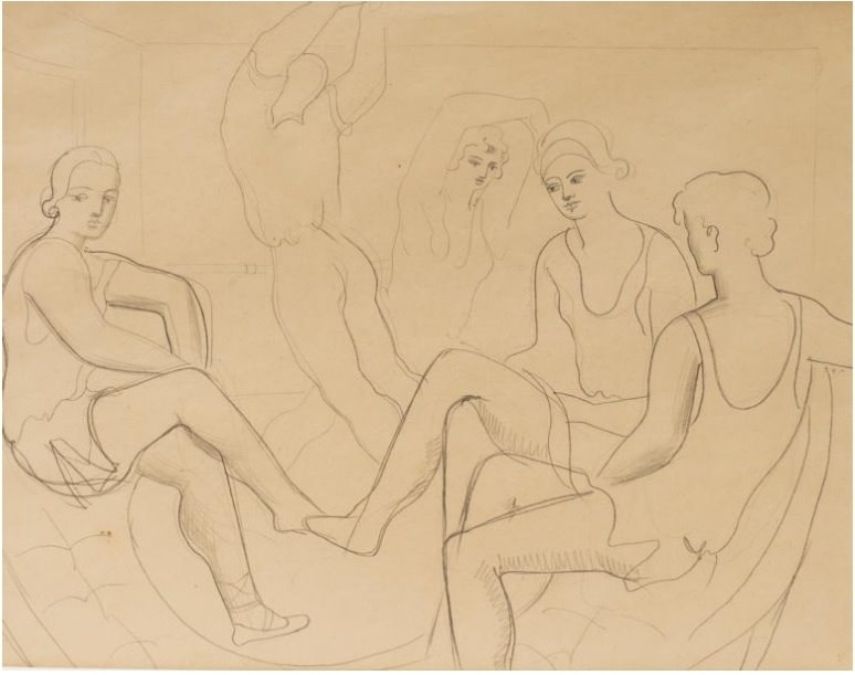 Christopher Wood, Study of Dancers (Romeo and Juliet), 1925