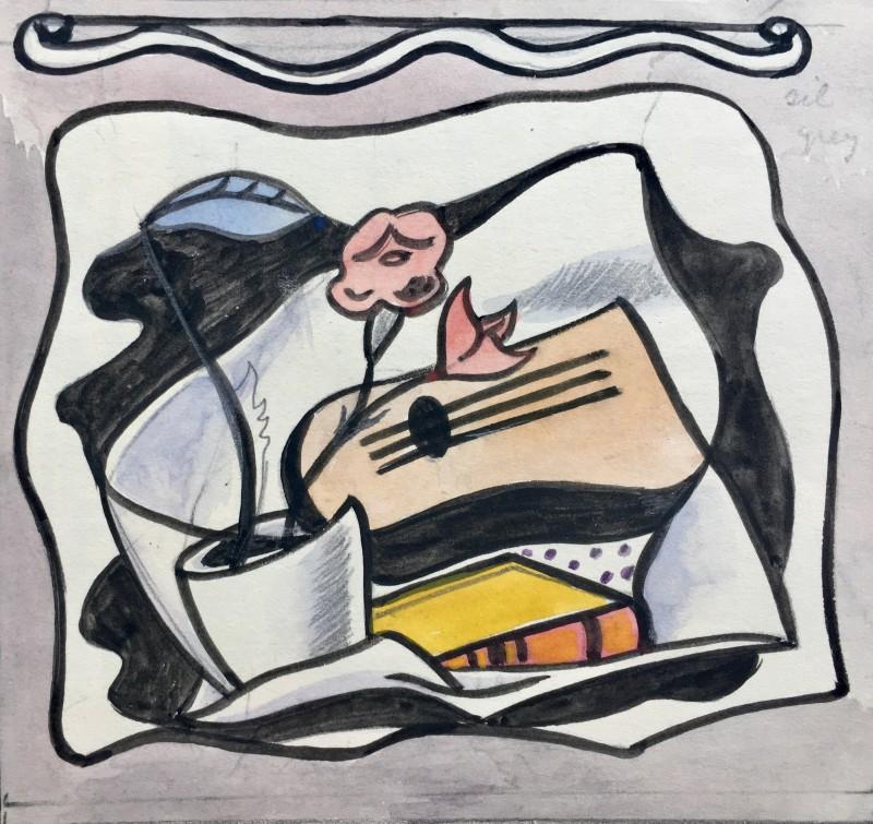 Doris Hatt (1890-1969)Cubist Still Life, 1950's