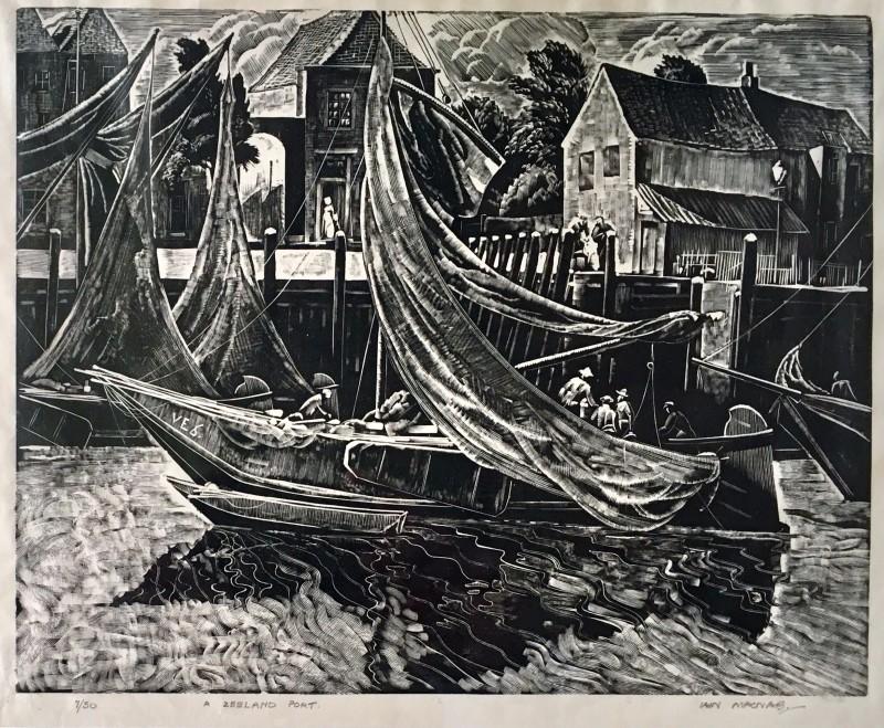 IAIN MACNAB (1890-1967)A Zeeland Port, 1927
