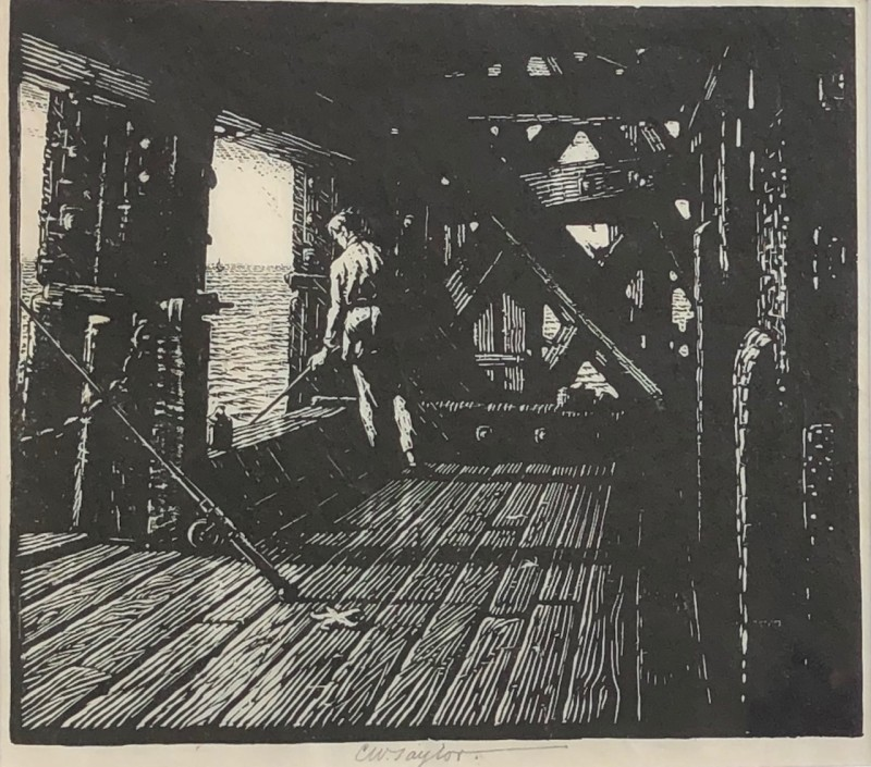 Charles William Taylor Fisherman and Pier, c. 1930's
