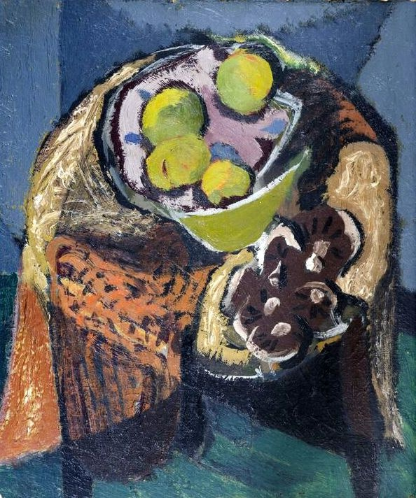 Kenneth Lauder (1916-2004)Still Life wth Mushrooms , 1949