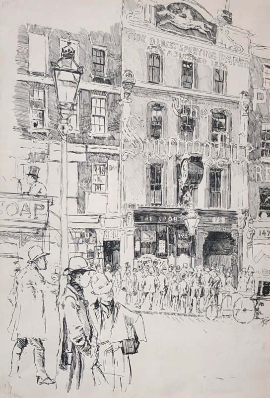 Joseph Pennell (1857-1926)The Sporting Life Building, 148 Fleet Street, London, 1891
