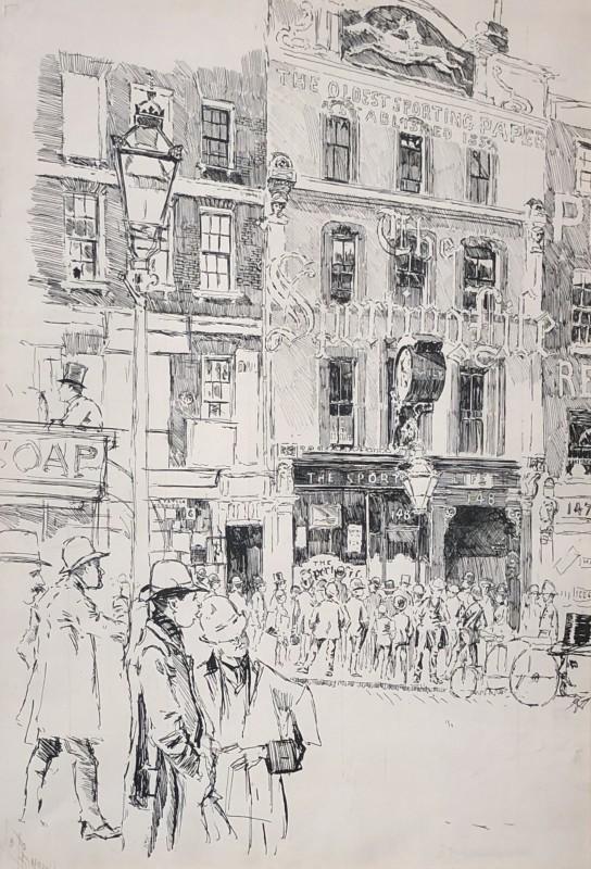 Joseph Pennell (1857-1926)The Sporting Life Building, 148 Fleet Street, London, 1891
