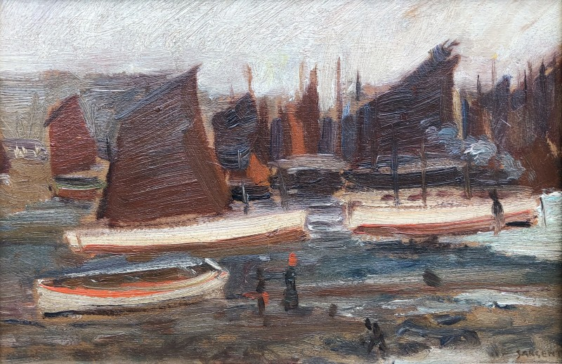 Louis Sargent (1881-1965)Fishing Fleet, St. Ives, c. 1910