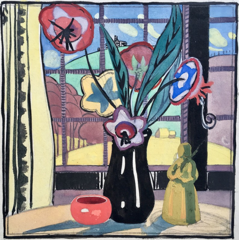Doris Hatt, Window Still Life, Clevedon, 1920s